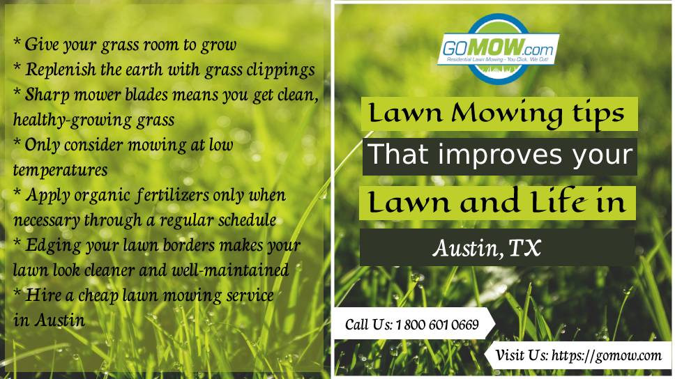 Lawn Mowing Tips That Improve Your And Life In Austin